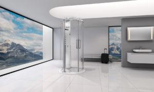 Colonne de douche et base autoportante