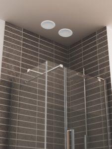 Haut-parleurs pour douche
