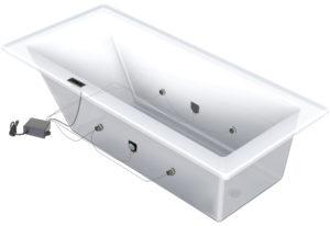 Installation haut-parleur pour bain